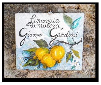 Limonaia La Malora Gargnano - insegna
